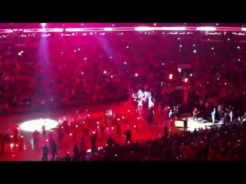 Opening game vs Wizards.Game 1 Playoffs 2014
