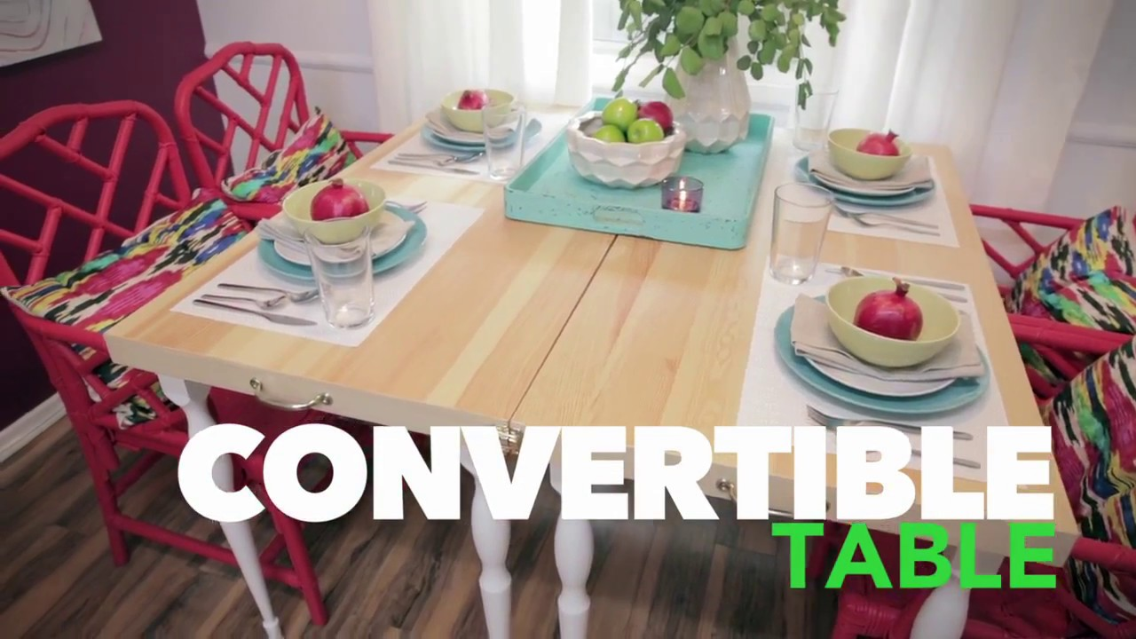 DIY Convertible Dining Table