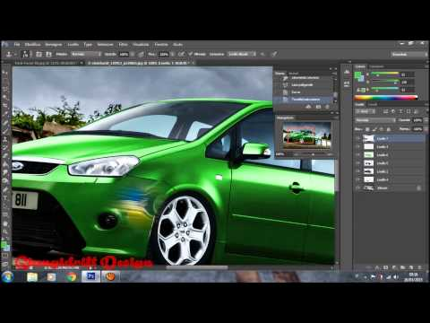 ford focus c max 2006 virtual tuning photoshop youtube. Black Bedroom Furniture Sets. Home Design Ideas