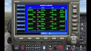 FSX Tutorial: GPS Navigation (Comprehensive Garmin GPS 500 Guide)