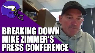 Breaking Down Mike Zimmer's Press Conference