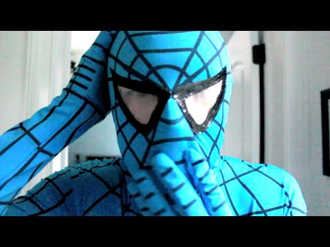 Thumbnail: The Amazing Blue Spiderman! Real Life Superhero!