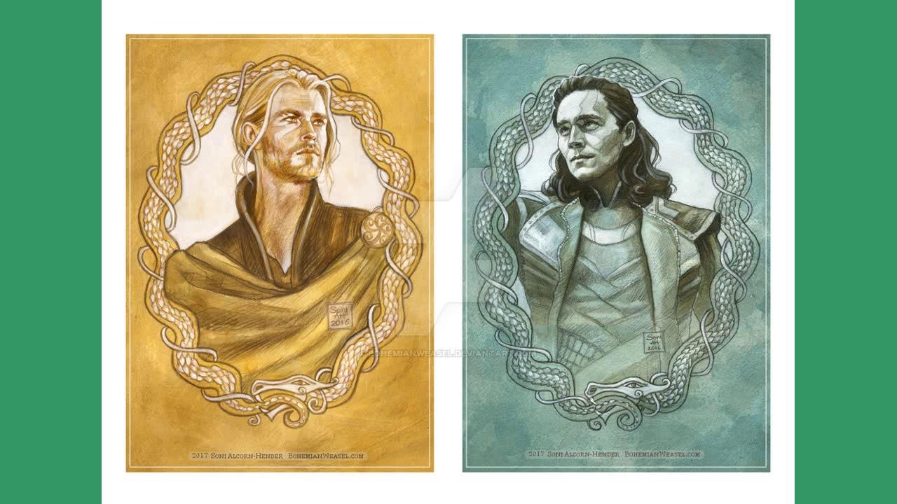 Thor x Reader x Loki Sick Day