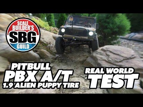 SBG Pit Bull PBX A/T Alien 1.9 Tire Real World Test