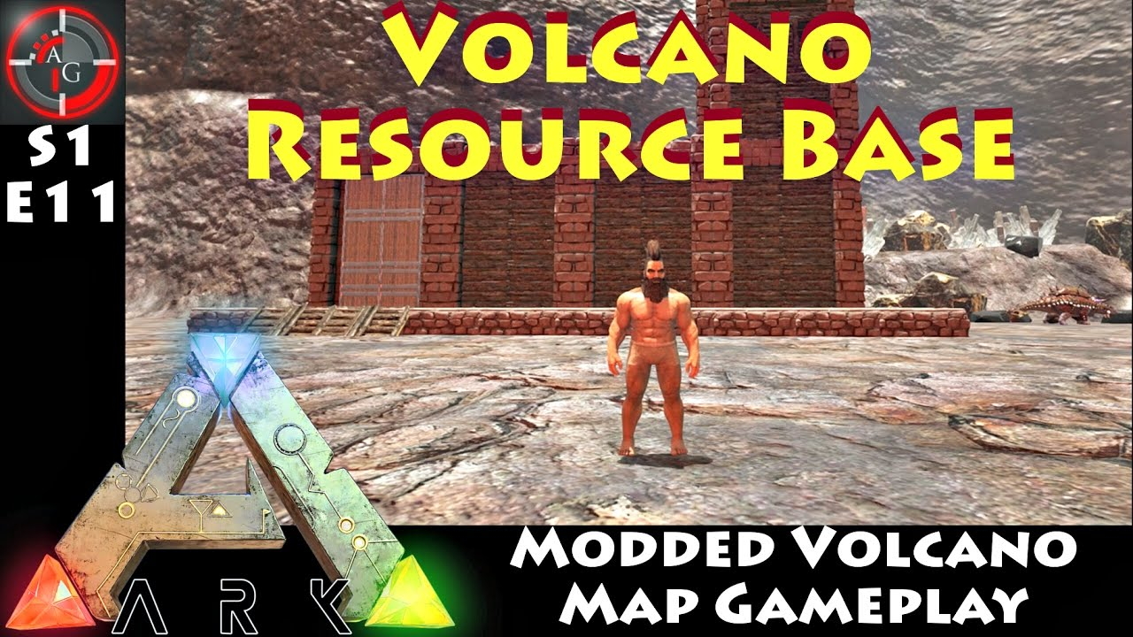 Ark: Survival Evolved - RESOURCE BASE (The volcano map gameplay) E11