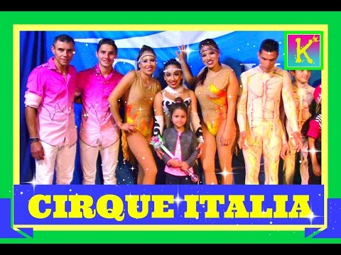 Watching CIRQUE ITALIA show LIVE DINOSAUR training  FUN COOL VLOG