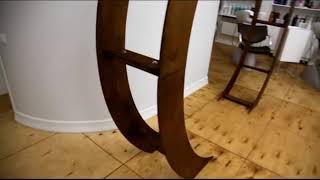 Круглая деревянная свадебная арка | Аренда круглой деревянной арки
