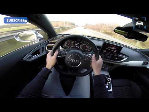 POV Audi RS7 Sportback Acceleration Top Speed on Autobahn
