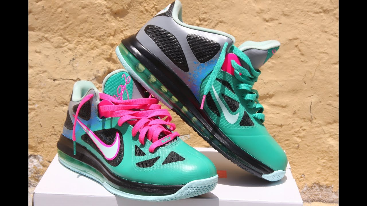 a121f1496550 Nike Lebron 9 Easter Custom Agua Twizz Customs - YouTube