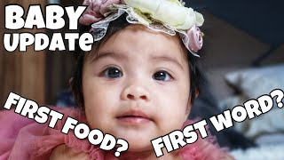 6 MONTHS BABY UPDATE | Anong first food & first word ni baby?