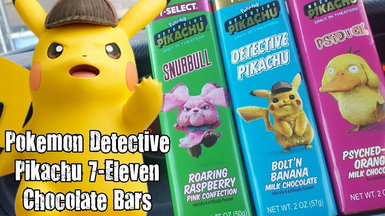 Carbs Pokemon Detective Pikachu 7 Eleven Chocolate Bars Youtube