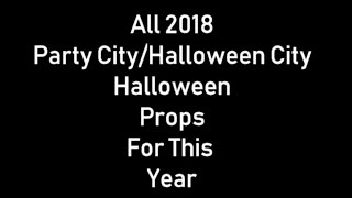 all 2018 party city halloween props timestamps in description long video