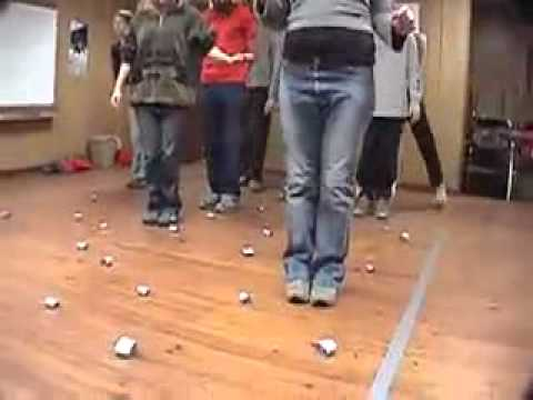 Minefield Duct Tape Teambuilding Game YouTube