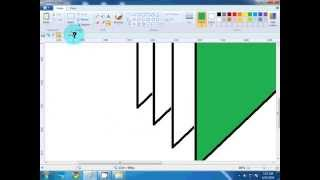 draw a triangle shape desing with MS Paint