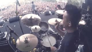 REVENGE THE FATE - DARAH SERIGALA (DRUM CAM) Live At HELLSHOW 2014