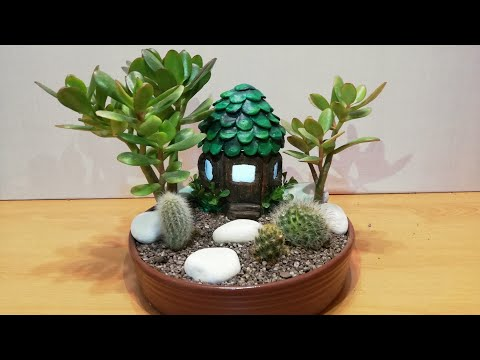DIY Fairy Garden with Fairy house Lamp