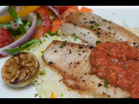 Pan Fried Fish Fillet With Sweet Lemon Tomato Sauce