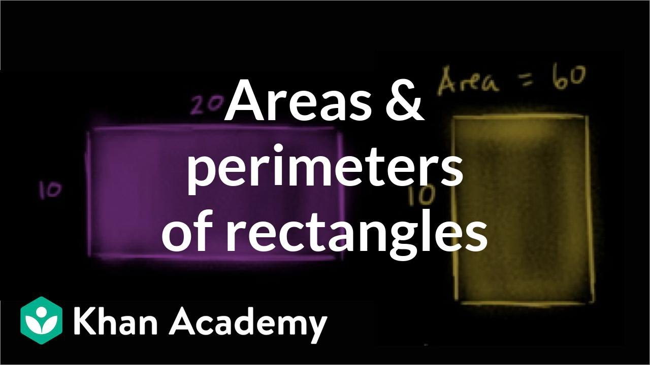 medium resolution of Comparing areas and perimeters of rectangles (video)   Khan Academy