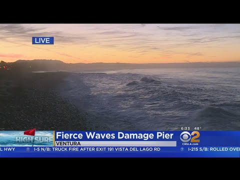 Dangerously High Waves Force Ventura Pier Closure