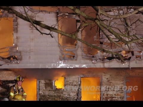 Barn Fire, Stoke Park Rd., Hanover Twp., Northampton County, PA. 02/07/16