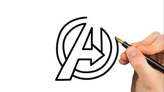 Drawing Avengers infinity war Logo -  avengers Coloring page