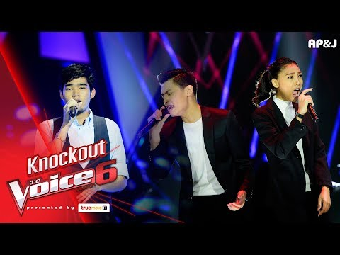 Knock Out : ต้น - เมื่อวาน VS เก่ง+ข้าวฟ่าง - I Feel It Coming - The Voice Thailand 6 - 14 Jan 2018