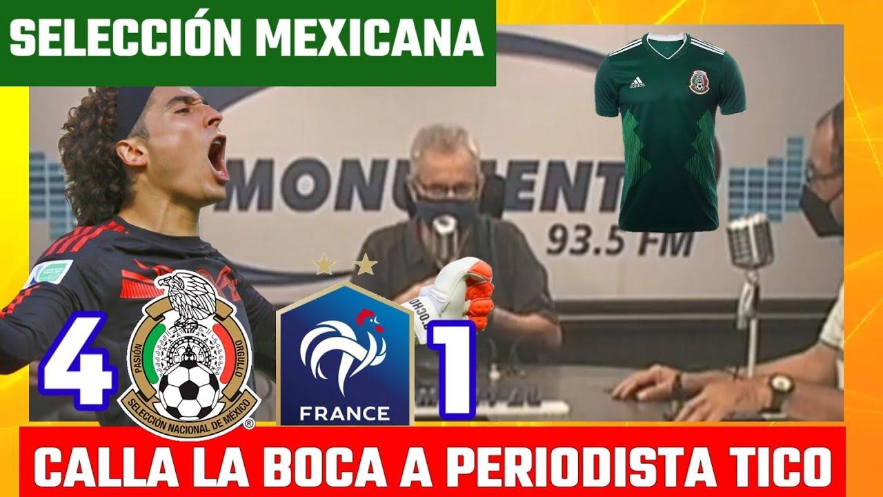 Periodista COSTARRICENSE demerita goleada de México vs Francia y lo ponen en su lugar