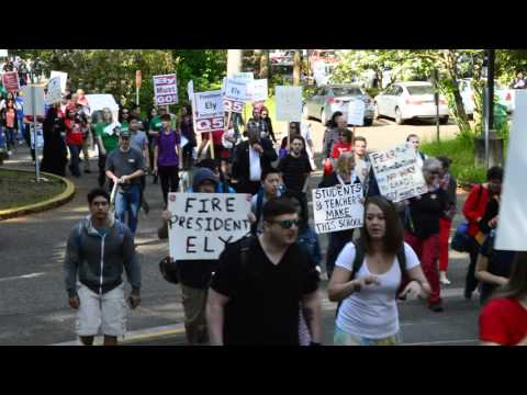 Green River Community College walk out protest!