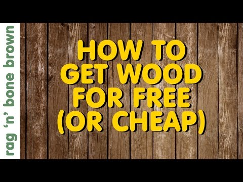 How To Get Wood For Free (Or Cheap!)