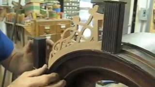 Recreating Fretwork For A Simon Willard Clock - Thomas Johnson Antique Furniture Restoration