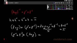 Fonksiyonlarda ters alma işleminin bileşke üzerine dağılmasının ispatı Video