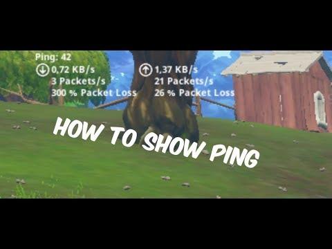 Fortnite How to show ping in game - فورت نايت كيفية اظهار ال بنج