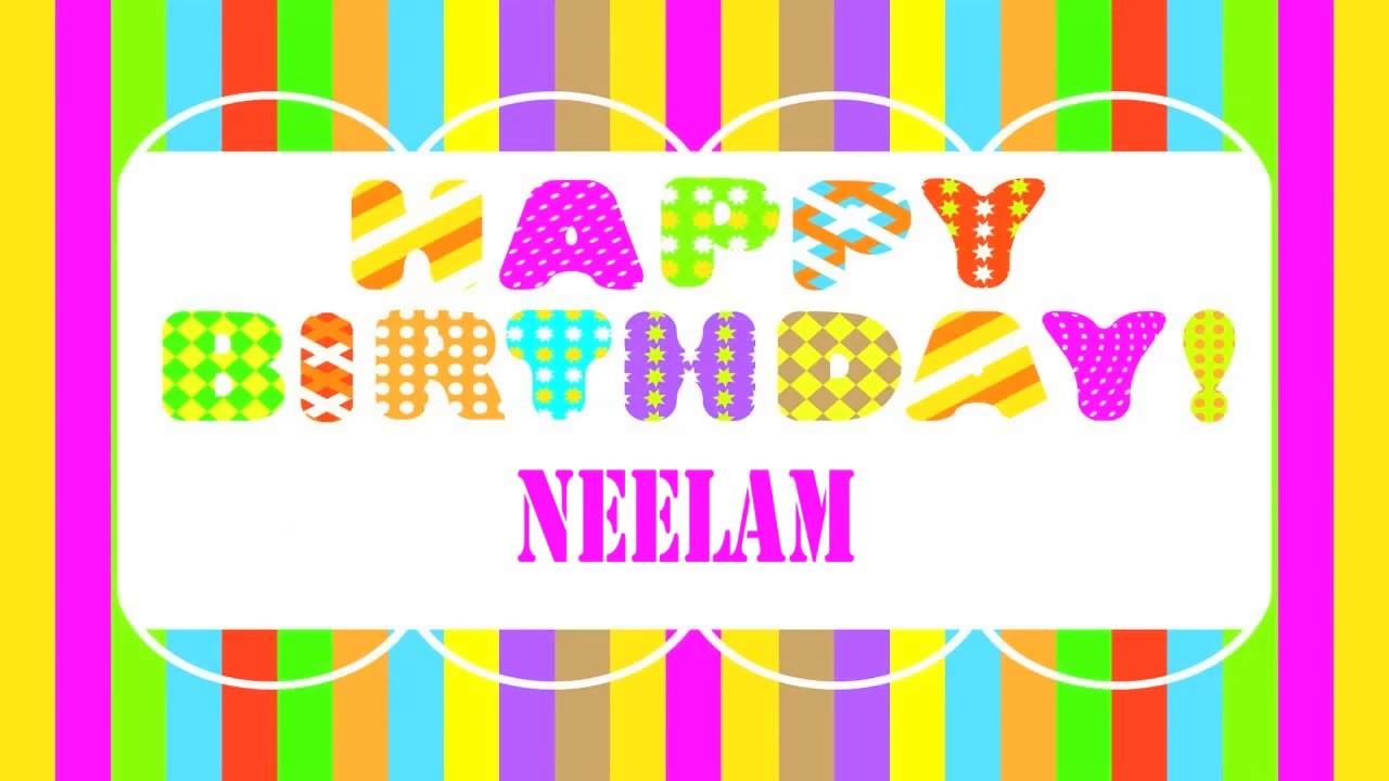 Neelam Wishes Amp Mensajes Happy Birthday Youtube