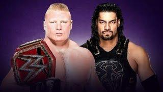 WWE berok lajnar vs roman  ring monday night Raw