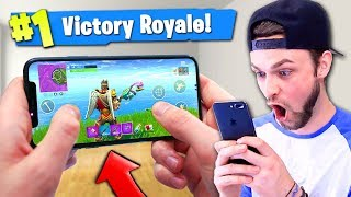 *NEW* MOBILE Fortnite: Battle Royale GAMEPLAY! (Victory Royale)