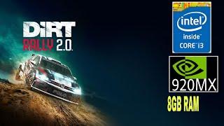 Dirt Rally 2.0 On 920MX + Core i3   8Gb Ram   GHOZT DUDE
