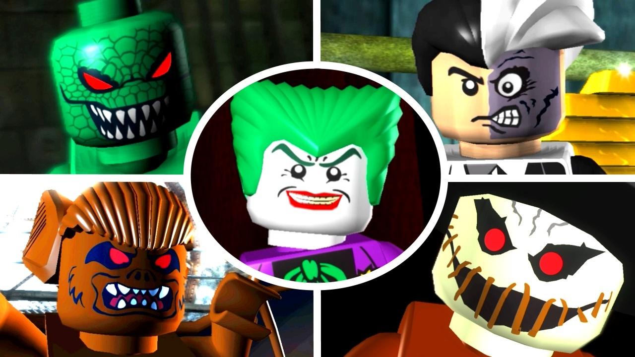 LEGO Batman The Videogame - All 15 Villain Boss Fights ...