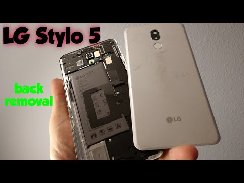 LG Stylo 5 how to remove back cover or replace it