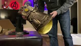 Hot Toys/Sideshow Thanos Infinity Gauntlet 1:1 Titan size unboxing 4K