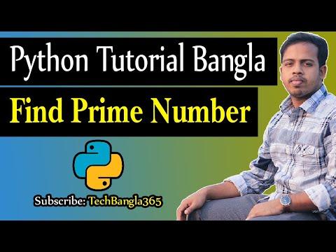 Python Tutorial Bangla 42 - Find Prime Number * TechBangla python tips * HSTU * পাইথন * thumbnail