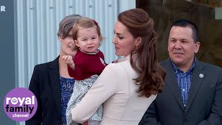 Prince George and Princess Charlotte wave goodbye to Canada after royal tour