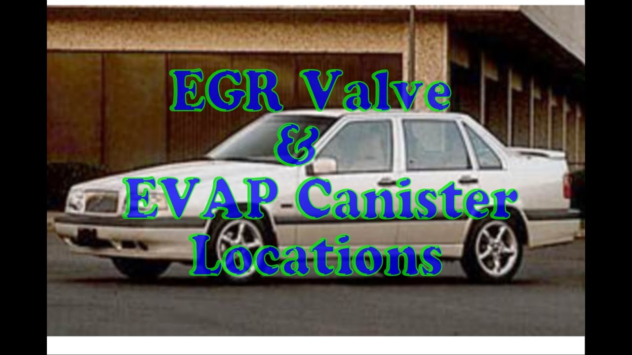 How to find EVAP canister & EGR valve on Volvo - YouTube