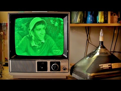 0194 Put A Green Computer Crt Into A B Amp W Tv Youtube