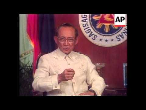 PHILIPPINES: PRESIDENT RAMOS ATTEMPT TO END CONSTITUTIONAL CRISIS