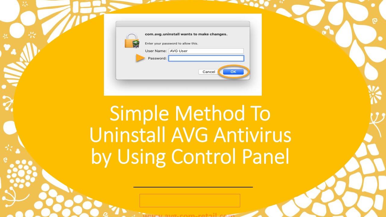 Simple Method To Uninstall AVG Antivirus by Using Control Panel