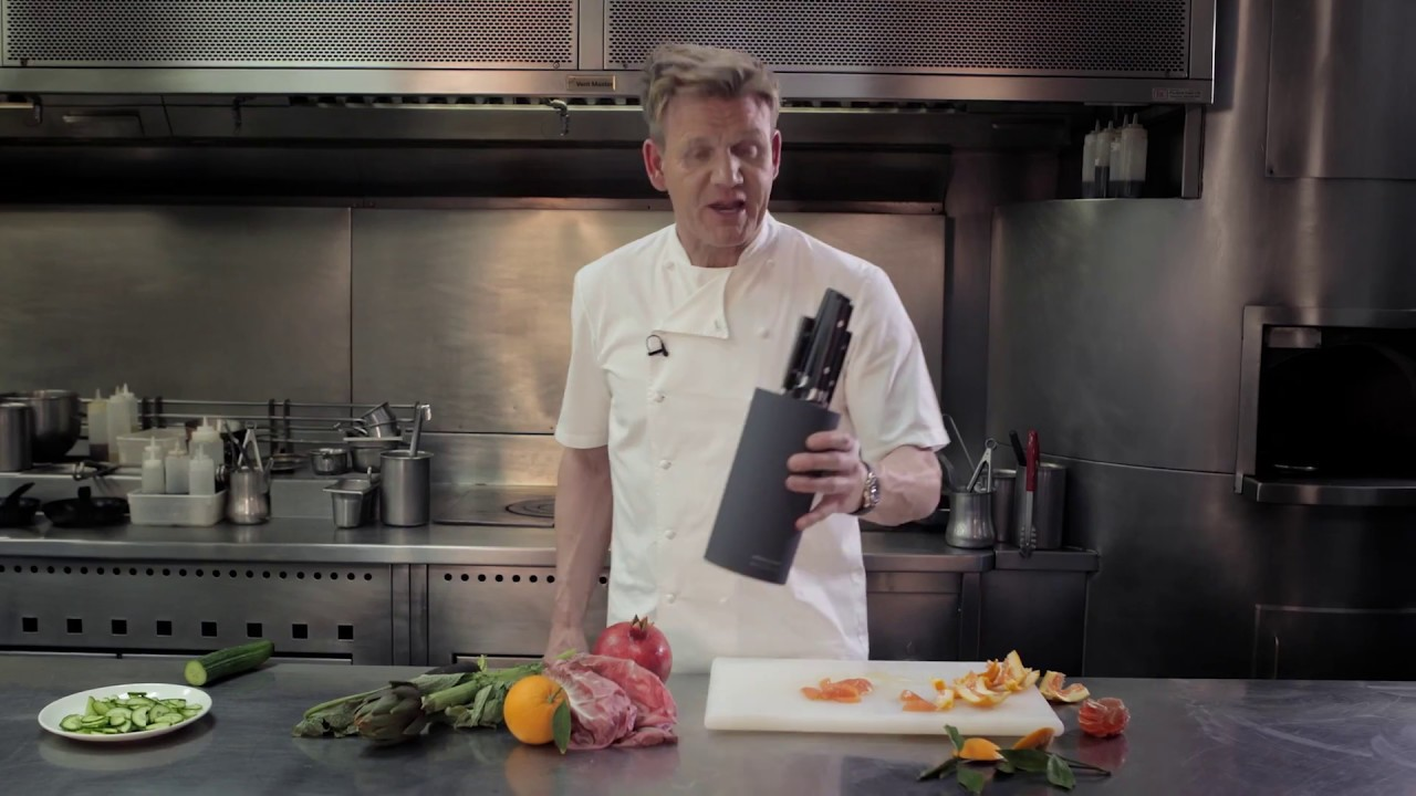 Gordon Ramsay By Royal Doulton Knife Block Youtube