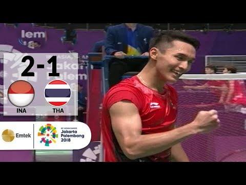 INA v THA - Badminton Tunggal Putra: Jonatan Christie v Khosit Phetpradab   Asian Games 2018