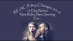 REAC Policy Changes 2019