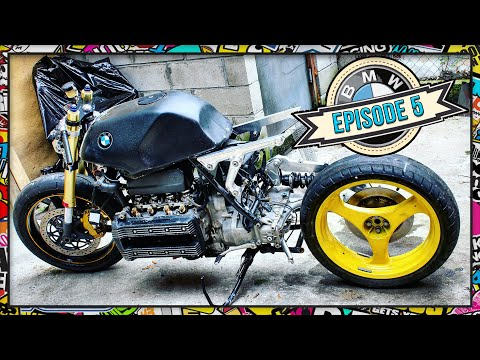Cafe racer parts BMW K100 project - YouTube