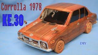 Haw to make  Miniature Classic Car Corolla KE.30 Toyota.